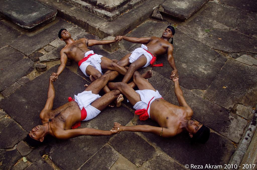 "A traditional drill known as ""dandukanda puuttuwa"" that enhances core strength and coordination. © Reza Akram 2010 - 2017"