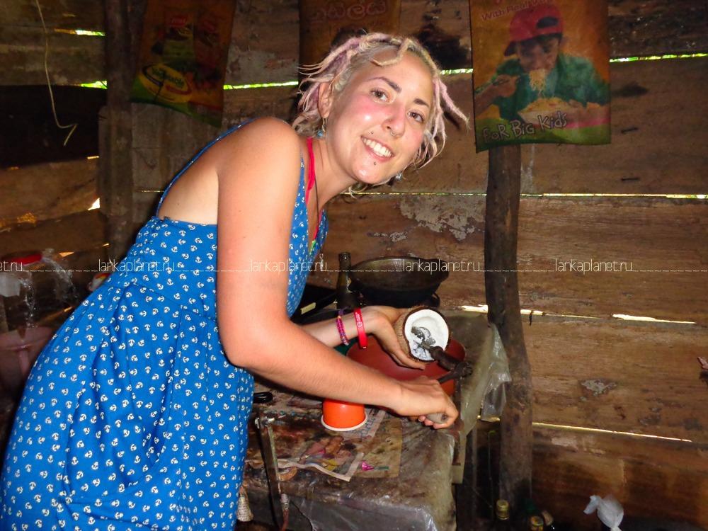 дом ланкийца, кокосовая терка