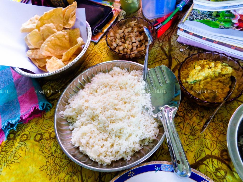 рис с карри Шри-ланка